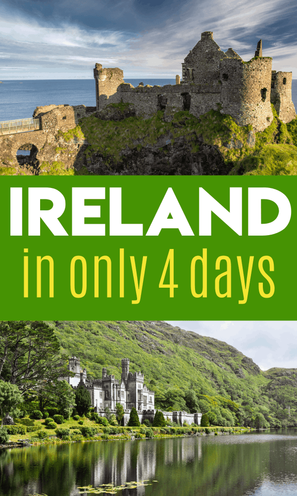 4 days in Ireland can seem like a short trip, but you can pack in a large amount of fun! Cliffs of Moher, Dublin, Cork, Waterford, Waterford Crystal tour, old castles and more!