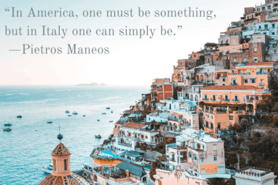 Beautiful quotes about Italy