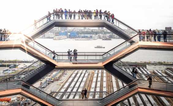 The Vessel, the new attraction in Hudson Yards Plaza