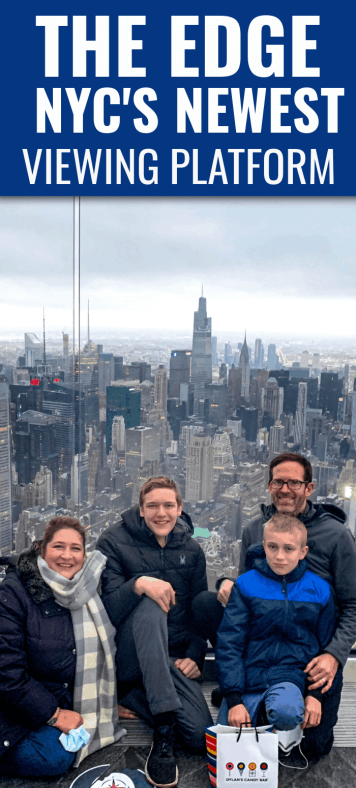 Visit The Edge at Hudson Yards in New York City. Its fun to see the city from a nearly 360 degree viewing platform. The highest overlook in the Western Hemisphere.