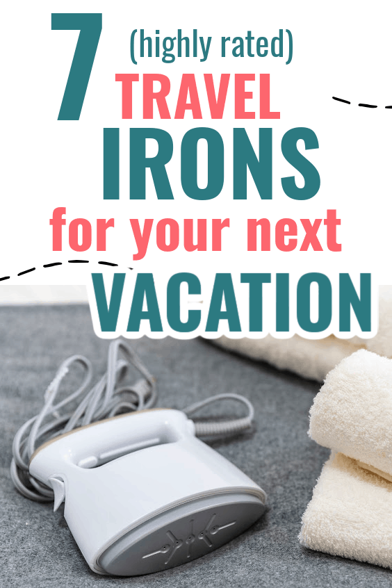 Travel Irons are a necessity if you need to look good on your business trips or family vacations. These are the 7 best performing irons that weigh a pound or less and work as well as a normal sized iron! Travel Iron, travel gear, travel essentials.