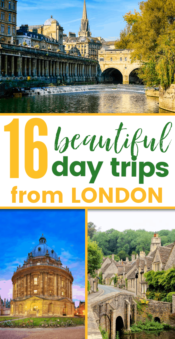 16 awesome day trips from London! Here are the best things to see on your tour of the UK and most of them are within easy distance of London meaning you won't have to move hotels!