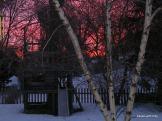 Sunrise, winter in Minnesota