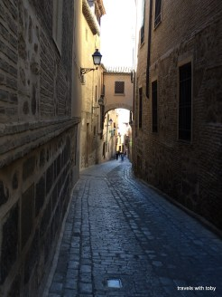 typical street in Toledo Spain