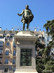 another statue of Cervantes, the Spanish love him!