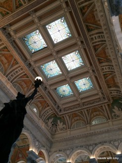 lovely stained glass ceiling-Library of Congress, D.C.