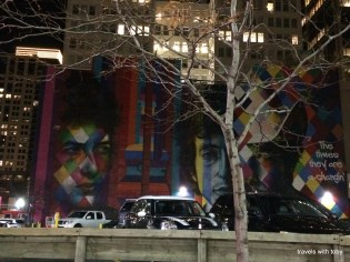 Bob Dylan mural downtown Minneapolis that Miss M wanted to see