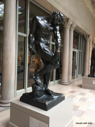 one of the many Rodin sculptures