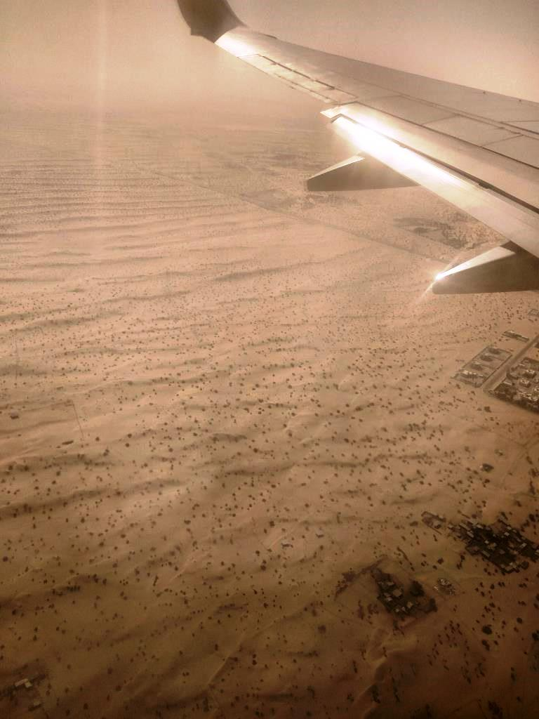 Aerial view of Dubai Desert