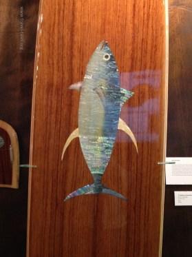 Texas Surf Museum irridescent fish
