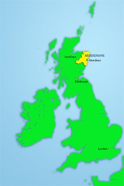 Aberdeenshire map - new website