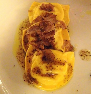 Pecorino Cheese filled Ravioli with Truffles