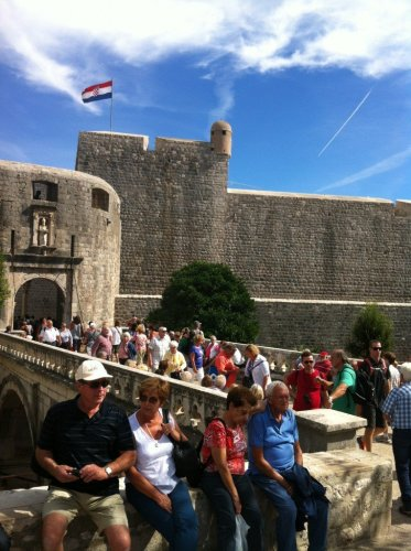 Old Town Dubrovnik crowds