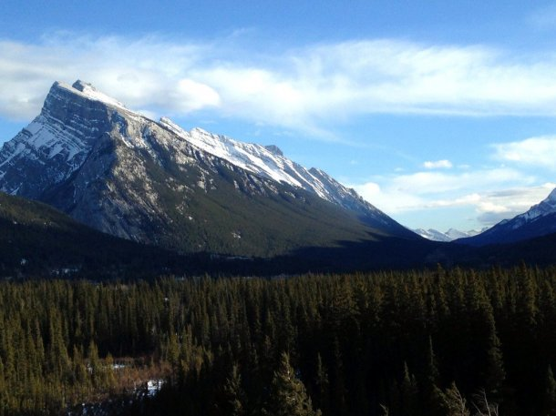 View of Mount Rundle from Juniper Hotel Banff