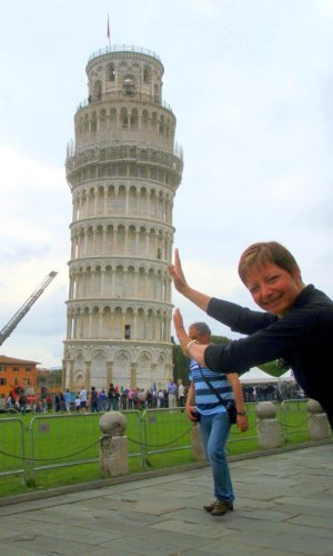 Holding up Leaning Tower of Pisa