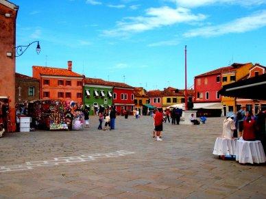 Main square Burano Italy
