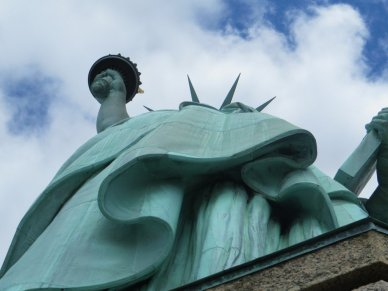 the pedesal view of Statue of Liberty