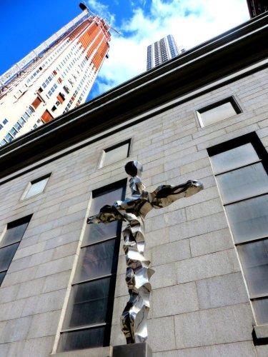 Silver 9/11 Memorial cross September 11 Ground Zero St Peter's Catholic church