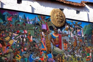 Cusco Peru street mural