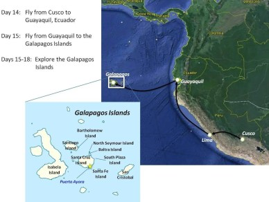 map Guayaquil to Galapagos