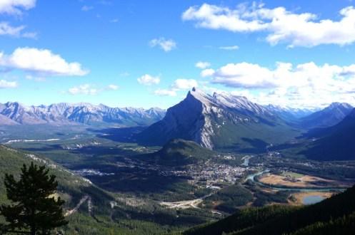 Mt Noquay view of Banff
