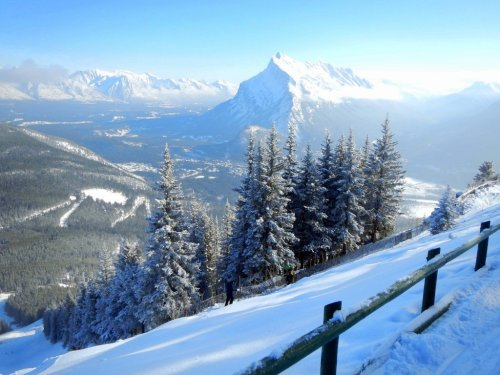 Best banff view in winter wonderland