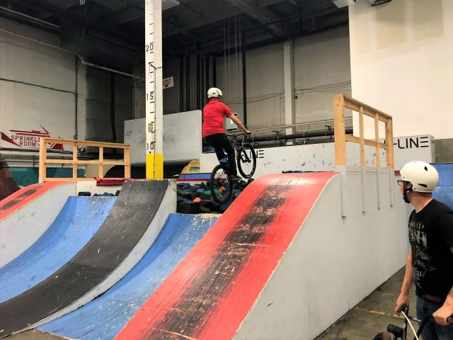 B-LINE Calgary Indoor Bike Park-Even Grandpa Will Love It - Travel Tales of Life