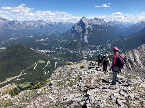 Banff Mount Norquay Via Ferrata view
