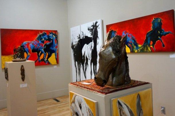 Bluerock Art gallery horses