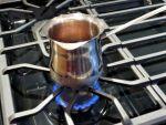 Brew Turkish coffee on low heat