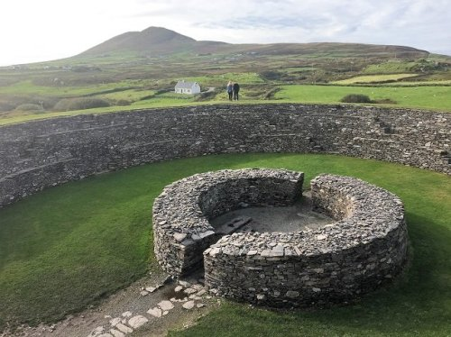 Cahergall Stone Fort with its 6 metre high walls