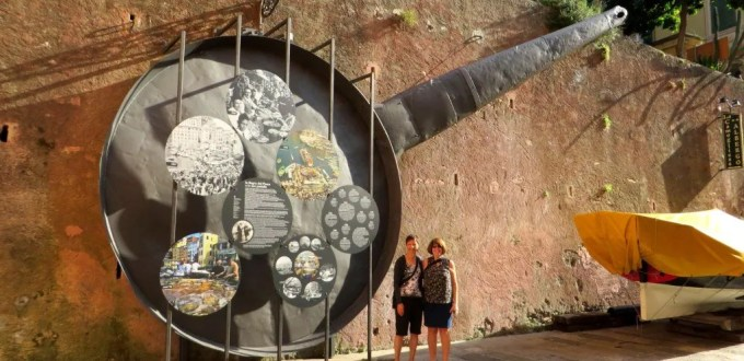 giant frying pan camogil italy