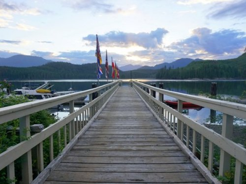 Dock at Blind Channel Resort British Columbia