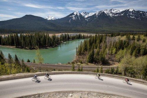 Canadian signature travel cycling Canadian Rockies