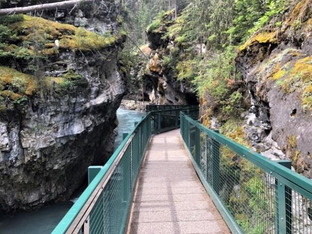 Catwalk on Johnston Canyon trail