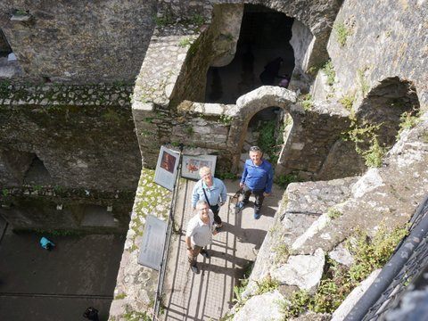 Climbing the Blarney Castle