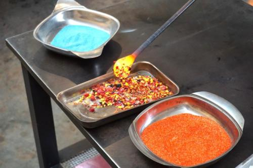 Colour Glass blowing