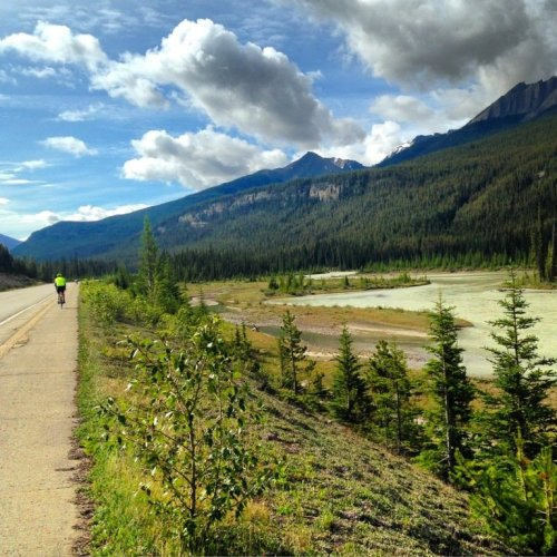 Cycling Icefields Parkway