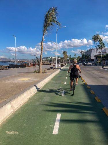Cycling malecon La Paz Mexico