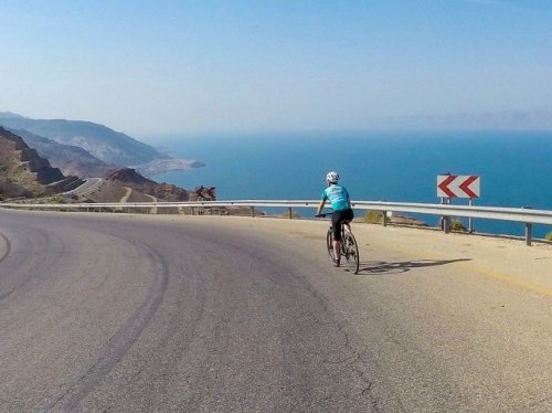 Cycling down to the Dead Sea