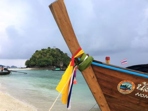 Decorations on longtail boat