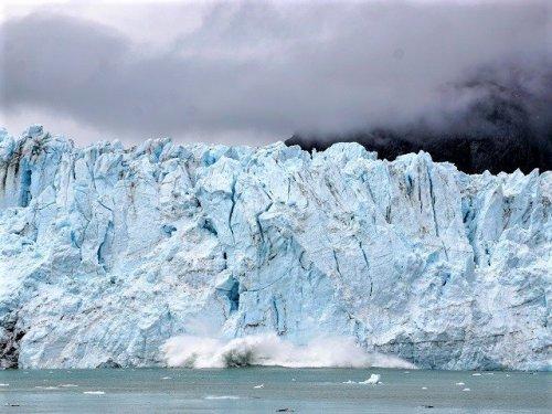 Glacier Bay National Park glacier calving