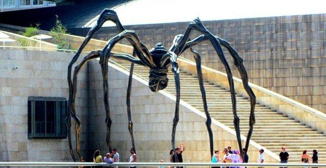 Giant spider art