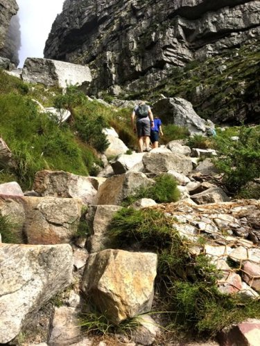 Hiking trail Platteklip Gorge Table Mountain