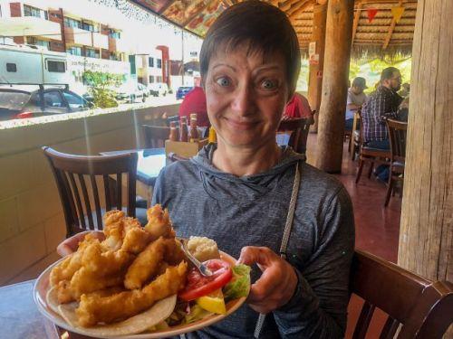 Huge portions at Mariscos El Toro Guero Seafood Restaurant