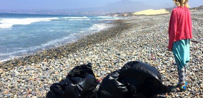 Beach garbage