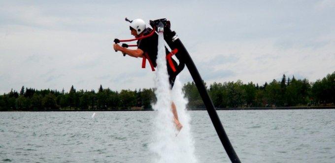 Sylvan Lake Alberta water jetpack