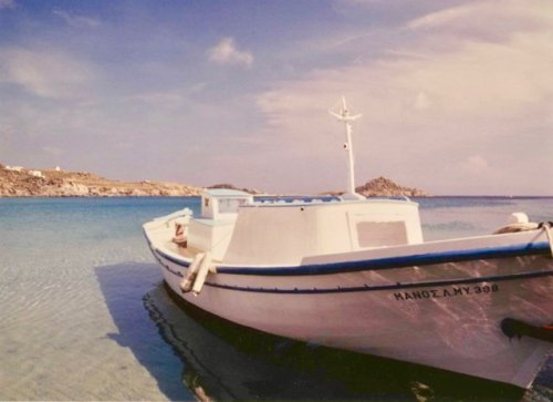 The view from Paradise Beach, Mykonos