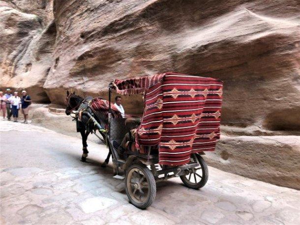 Petra horse carriage in Siq