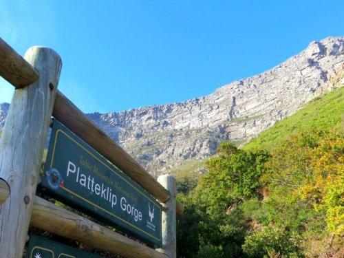 Platteklip Gorge Table Mountain hiking start